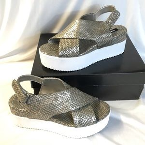 New DKNY Carina Slingback platform Sandals 8.5